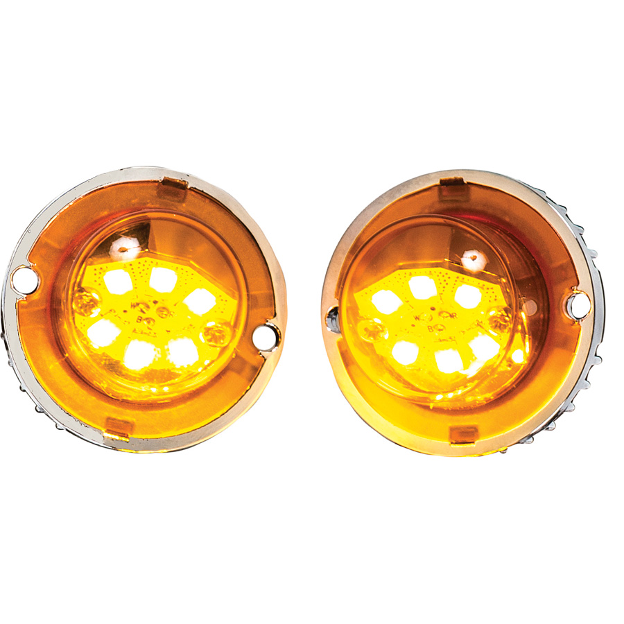 Buyers 8891216 Dual Amber Led Quot Hidden Quot Bolt On Strobe