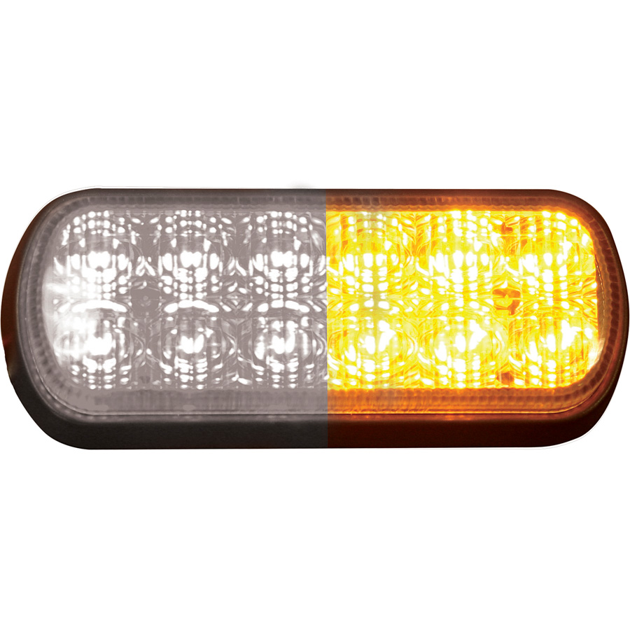 Buyers 8891602 5 Quot 6 Amber 6 Clear Led Rectangular Strobe