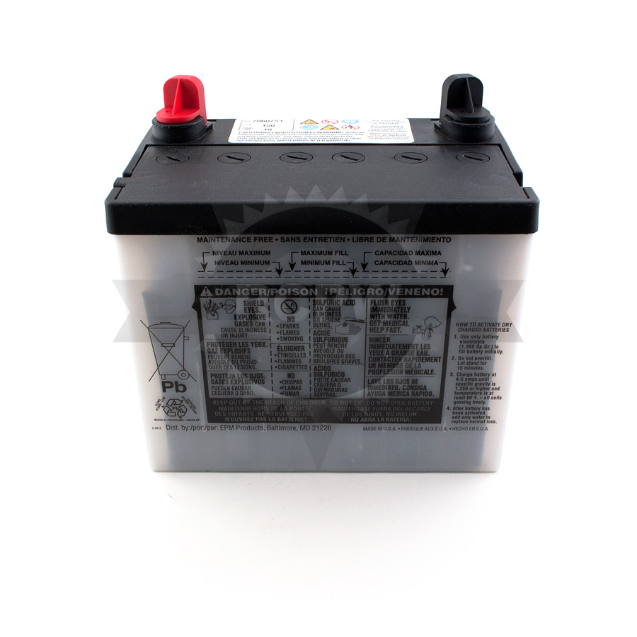 Briggs Amp Stratton 7060753yp Battery Snapper 51 97