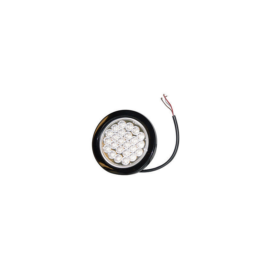 buyers sl40cr 4 u0026quot  24 led clear round strobe warning light
