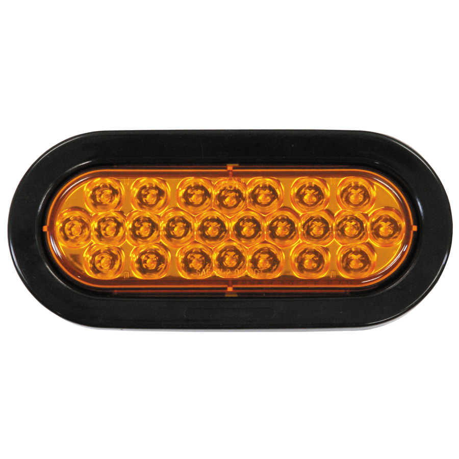 Buyers Sl65ao 6 1 2 Quot 24 Led Amber Oval Strobe Warning