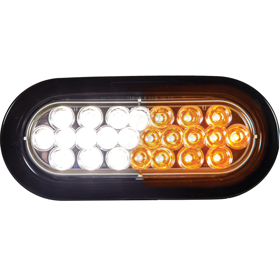 buyers sl66ac 6 1 2 oval amber clear led strobe light recessed. Black Bedroom Furniture Sets. Home Design Ideas