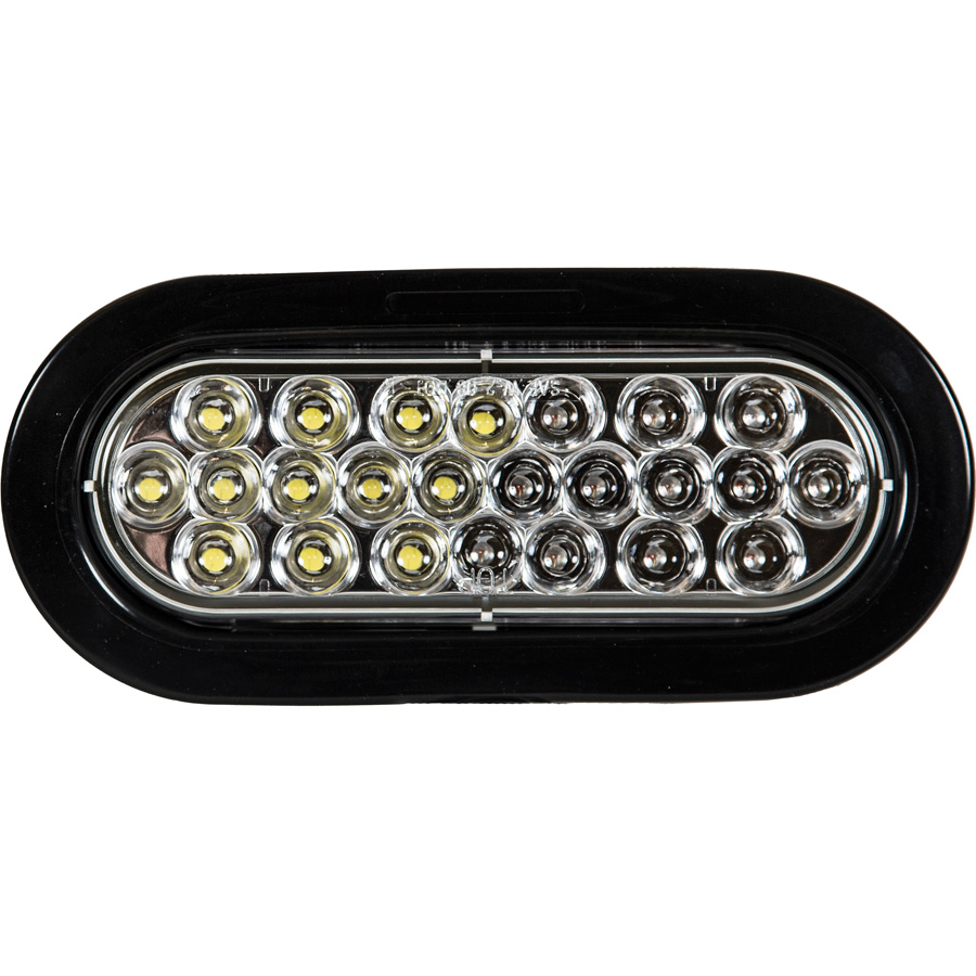 Buyers Sl66ac 6 1 2 Quot Oval Amber Clear Led Strobe Light