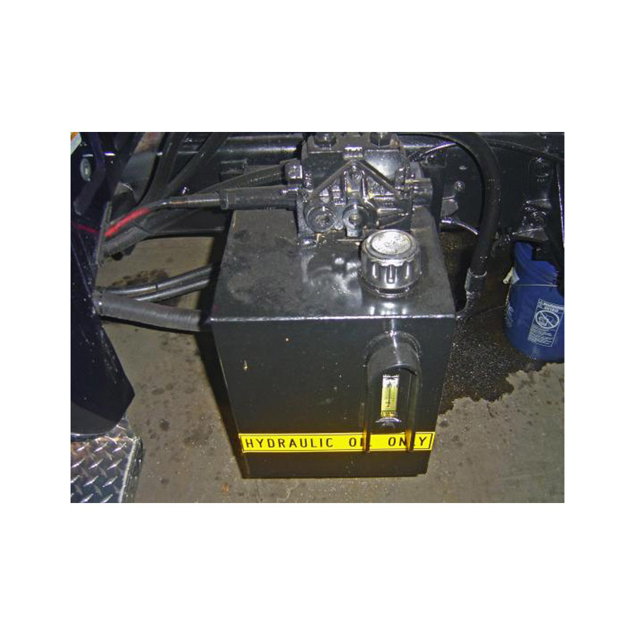 Hydraulic Salt Spreader Parts : Buyers smr s gallon reservoir for under tailgate