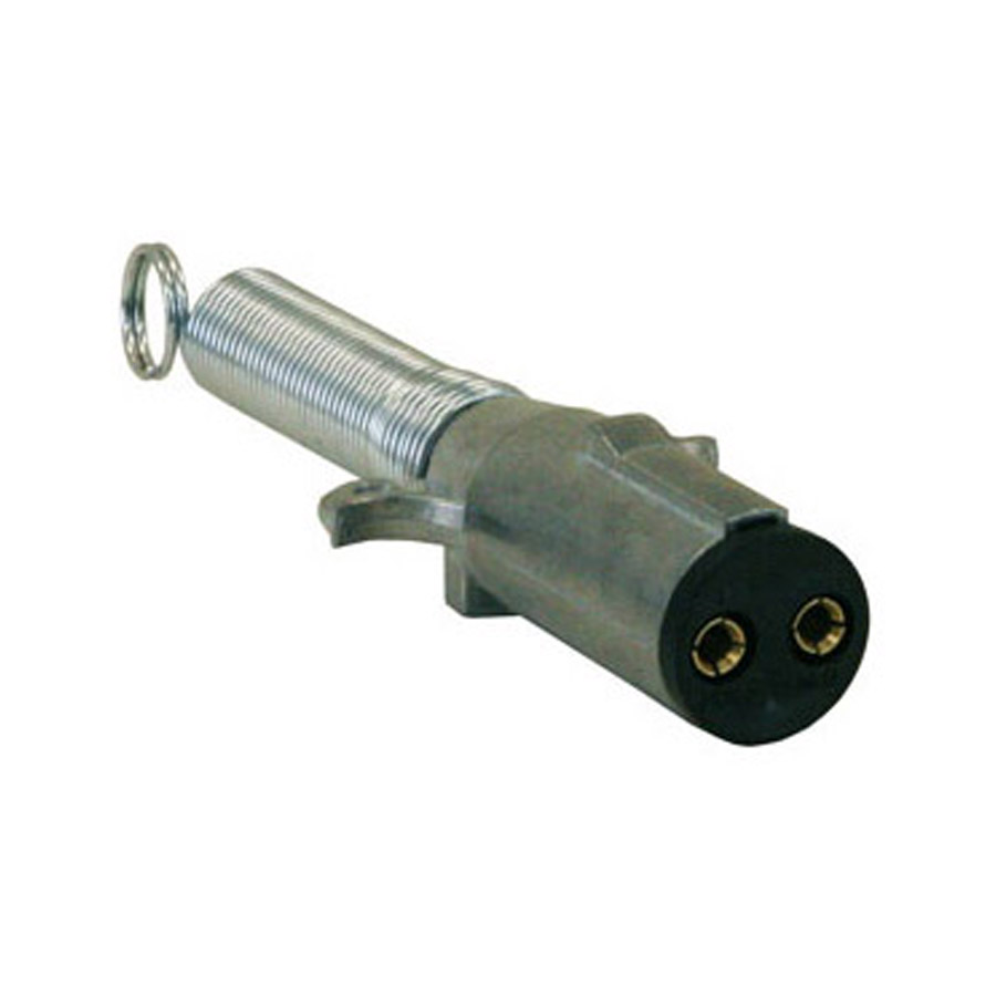 Buyers Tc2002 2-pin Metal Trailer Connector With Cable Guard Spring  Horizontal