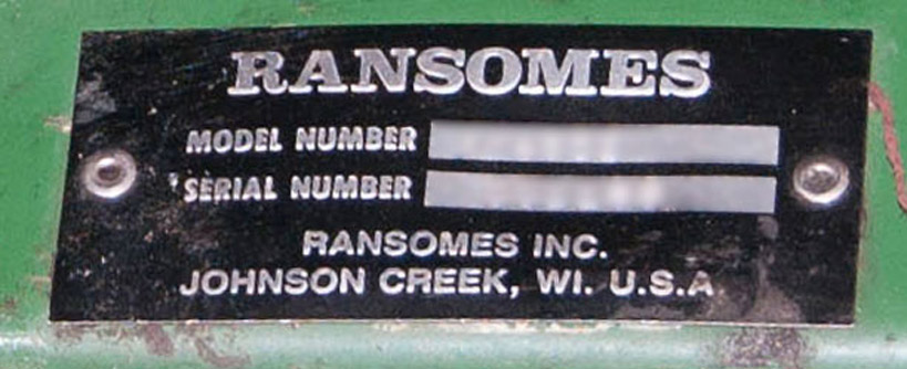 Where to Find the Model and Serial Number on a Bobcat/Ransomes Zero-Turn Mower Main Image