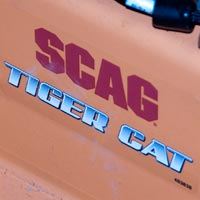 Where to Find the Model and Serial Number on a Scag Tiger Cat Zero-Turn Rider Thumbnail