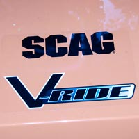 Where to Find the Model and Serial Number on a Scag V-Ride Mower Thumbnail