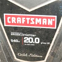 Where to Find the Model and Serial Number on a Sears Craftsman Push Mower Thumbnail