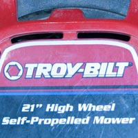 Where to Find the Model and Serial Number on a Troy-Bilt Push Mower Thumbnail