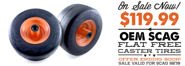 Scag Flat Free Front Caster Tire on Sale Now! Only $119.99 | Offer Ending Soon!
