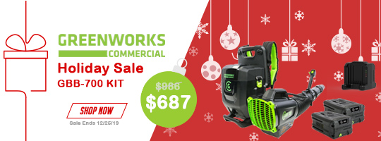 Greenworks Commercial Holiday Sale! GBB-700 Kit w/ 2x 5.0 Ah Batteries and Charger - $689 Now through 12/25/19