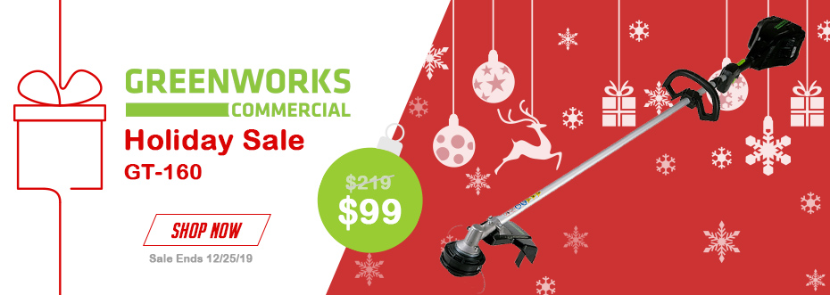 Greenworks Holiday Sale GT-160 - $99 Now through 12/25/19