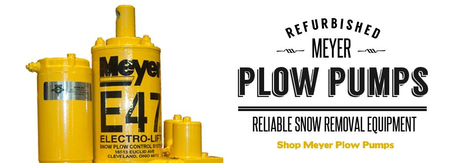 Refurbished Meyer Snow Plow Pumps at RCPW