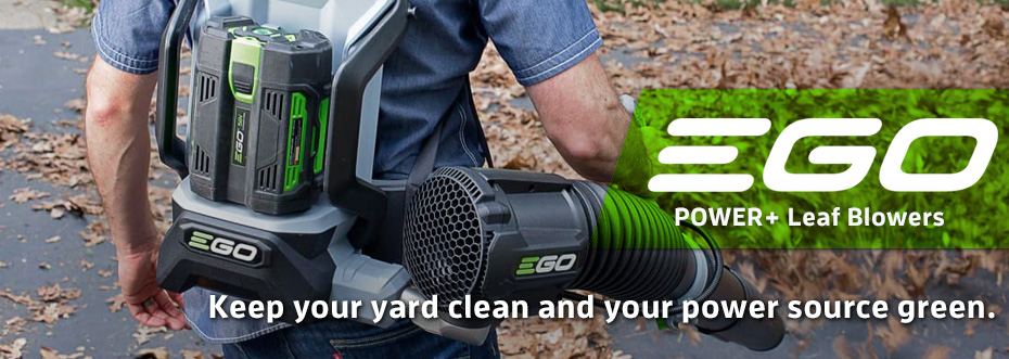 EGO Leaf Blowers: Keep your yard clean and your power source green.