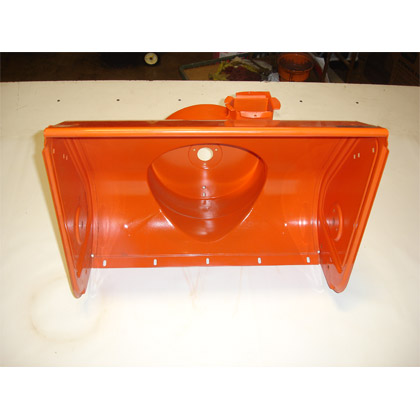 "Picture of used 24"" Orange Snow Blower Housing"