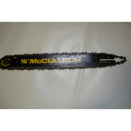 """Picture of used McCulloch 16"""" Bar with Chain (Recently Sharpened)"""