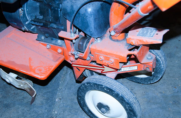 Ariens Front Tine Tiller Model Location
