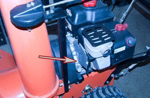 Briggs & Stratton Engine on Ariens Snow Blower Model Location