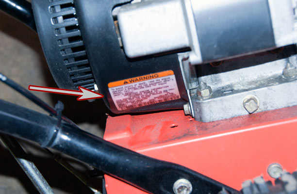 Newer Tecumseh Engine on Ariens Snow Blower Model Location