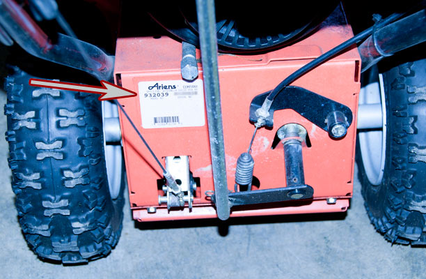 Ariens Snow Blower Model Location