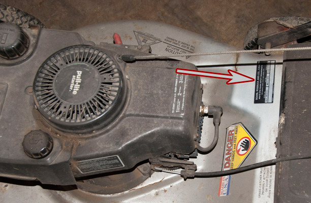 Craftsman push mower model and serial number location