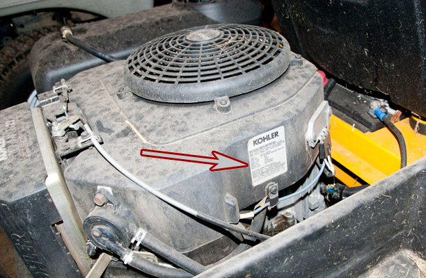 Cub Cadet Z-Force with Kohler Command Engine Spec and Serial Number Location