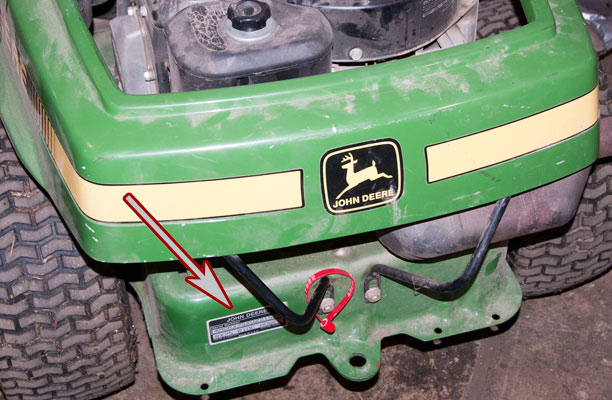 John Deere Riding Mower Model and Serial Number Location 1