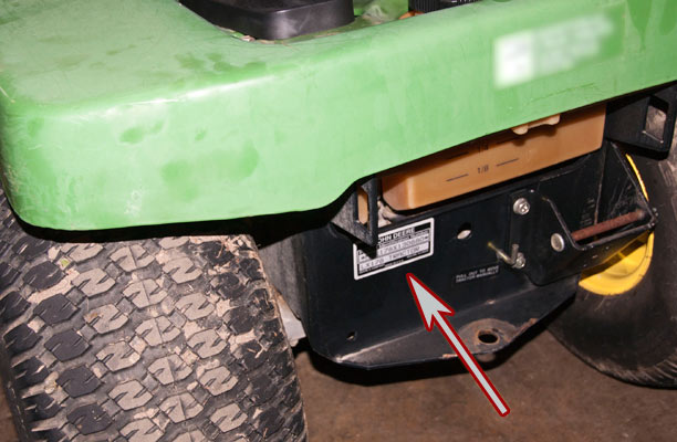 John Deere Riding Mower Model and Serial Number Location 2