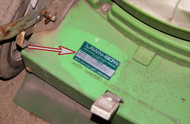Where to Find the Model and Serial Number on a Lawn-Boy Push Mower