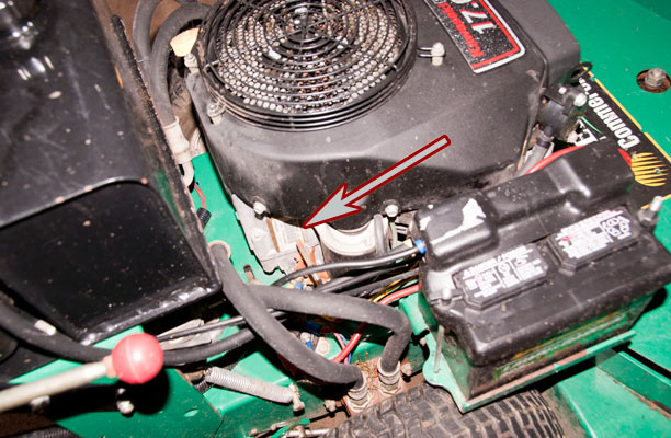 Kawasaki Model and Spec Number Location on Lesco Zero-Turn Lawn Mower