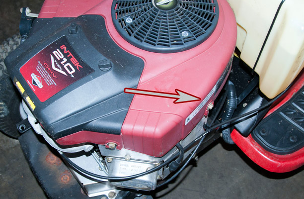 Briggs and Stratton Model, Type and Code Location on a Troy-Bilt Riding Mower