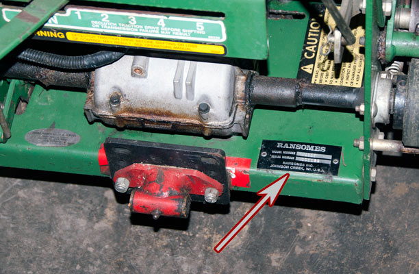 Ransomes Zero Turn Walk Behind Mower Model and Serial Number Location