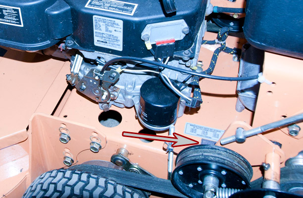 Where to Find the Model and Serial Number on a Scag Walk-Behind Mower