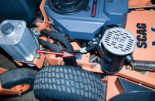 Scag Pro-V Mower Model and Serial Number Location