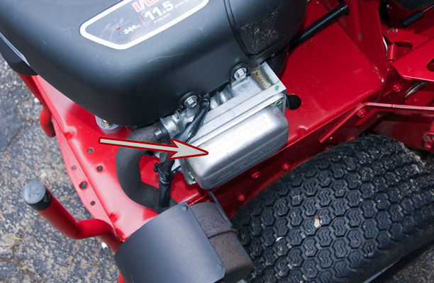 Briggs & Stratton Engine Model, Type and Code Location on a Snapper Rear Engine Rider