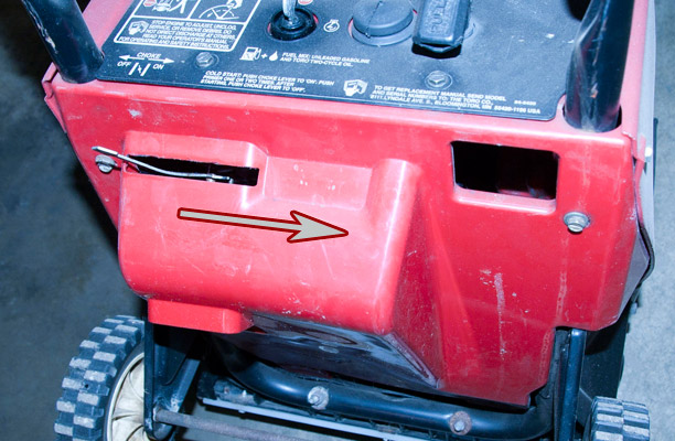 Briggs & Stratton Model, Type and Code Number Location on a Toro Powerlite Snow Blower