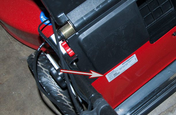 Toro Push Mower Model and Serial Number Location