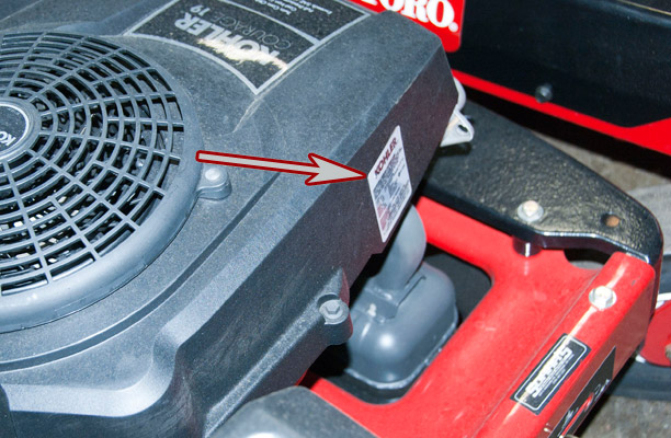 Where to Find the Model and Serial Number on a Toro Zero-Turn Mower