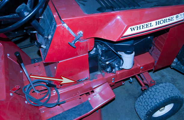 Wheel Horse B115 Mower Model and Serial Number Location